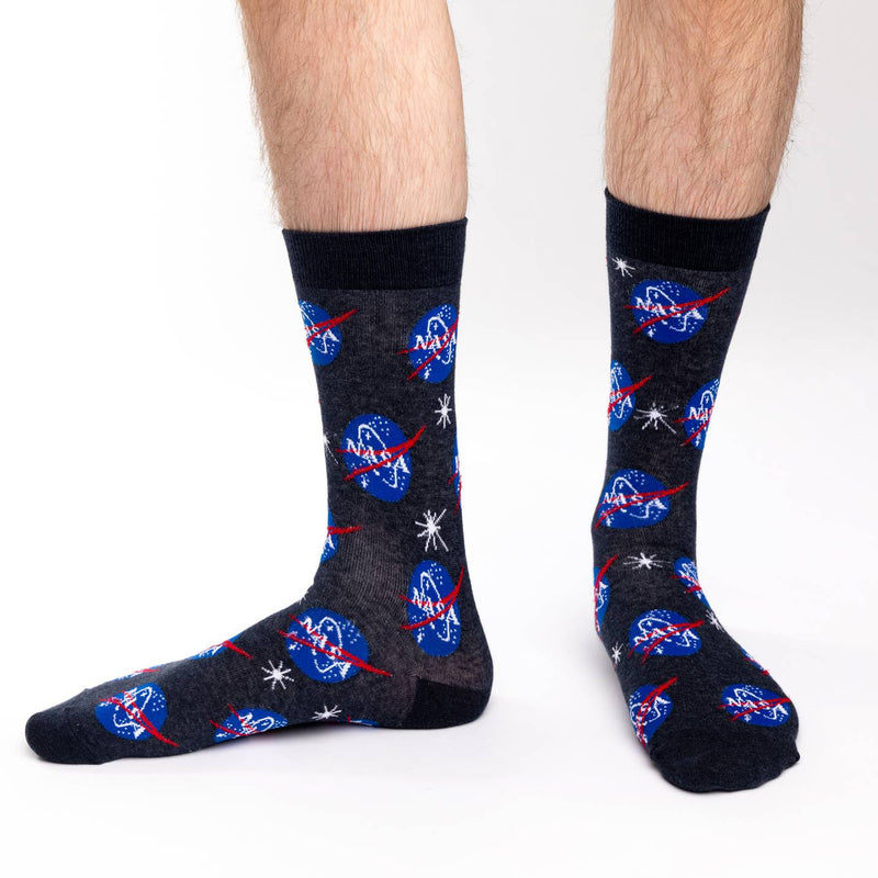 Men's Nasa, Blue Socks