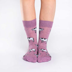 Women's Cow Socks - Good Luck Sock