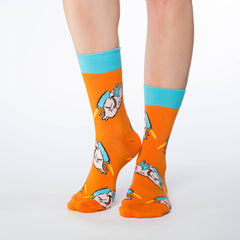 Women's Flying Pig Socks - Good Luck Sock