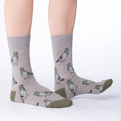 Women's Pigeon Socks - Good Luck Sock