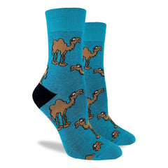 Women's Camel Socks - Good Luck Sock