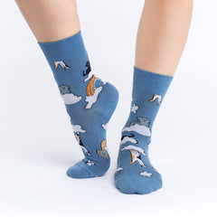 Women's Cloud Cats Socks - Good Luck Sock