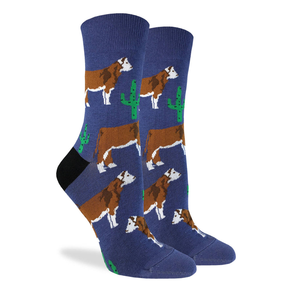 Women's Cactus Cow Socks