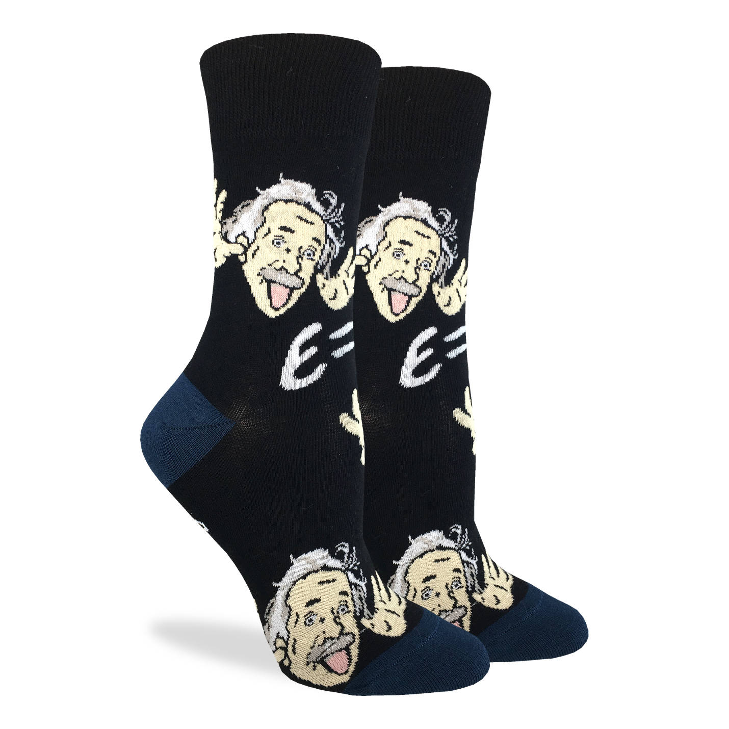 Women's Wacky Einstein Socks - Good Luck Sock