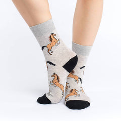 Women's Horses Socks - Good Luck Sock