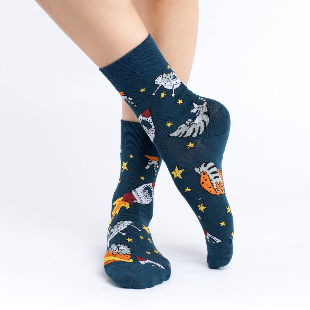 Women's Space Cat Socks