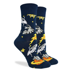 Women's Space Cat Socks - Good Luck Sock