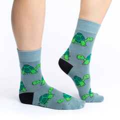 Women's Turtle Socks - Good Luck Sock