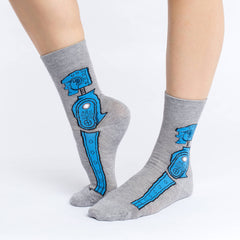 Women's Rock 'em Sock 'em Robot Socks - Good Luck Sock