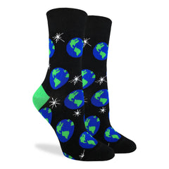 Women's Planet Earth Socks - Good Luck Sock