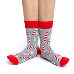 Women's Candy Canes Socks - Good Luck Sock