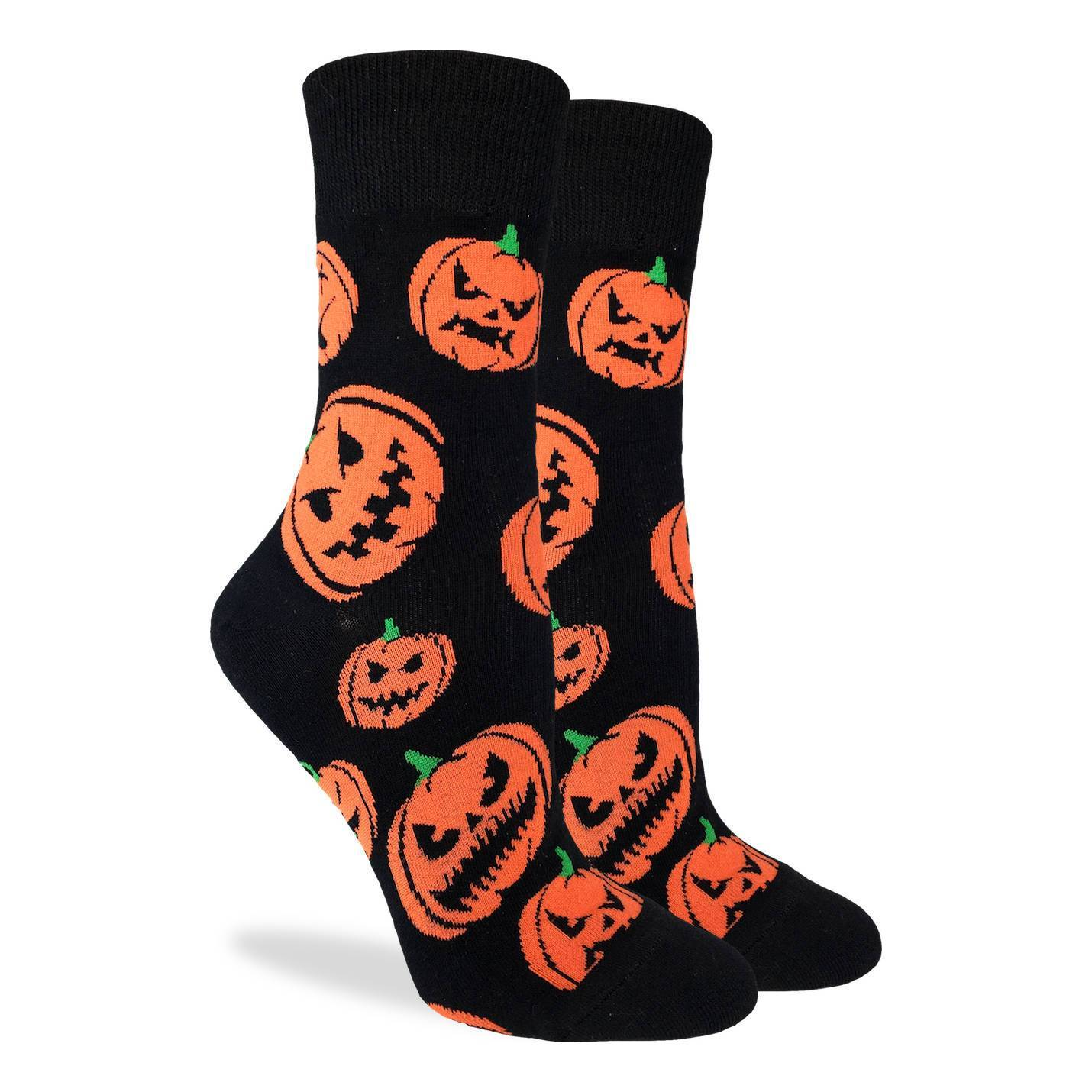 Women's Halloween Pumpkins Socks - Good Luck Sock