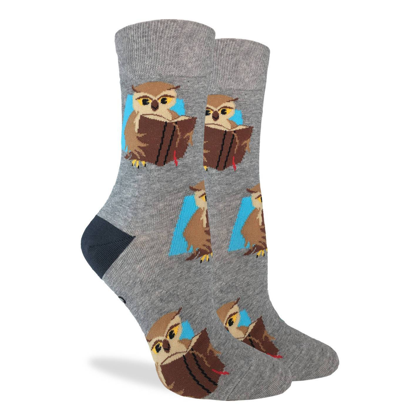Women's Book Owl Socks - Good Luck Sock