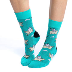 Women's Flying Pigs Socks - Good Luck Sock