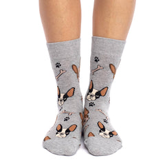 Women's French Bulldog Socks - Good Luck Sock