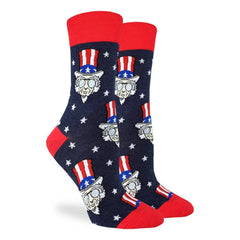 Women's Cool Uncle Sam Socks - Good Luck Sock