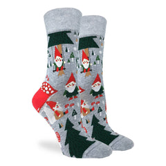 Women's Woodland Gnomes Socks - Good Luck Sock