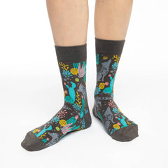 Women's Wolf Socks - Good Luck Sock