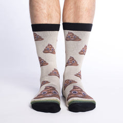 Men's Piles of Poop Socks - Good Luck Sock