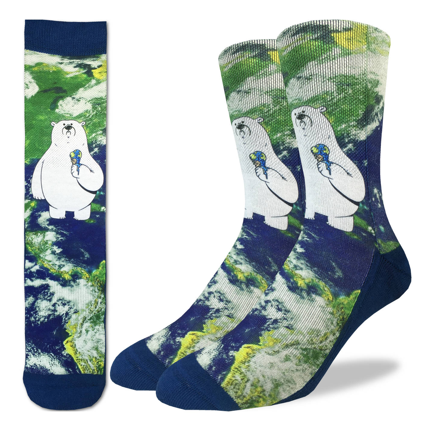 Men's Global Warming Polar Bear Socks - Good Luck Sock