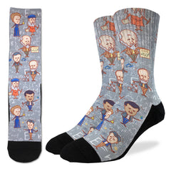 Men's Famous Scientist Socks - Good Luck Sock