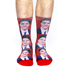 Men's Justin Trudeau Socks - Good Luck Sock
