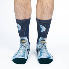 Men's Apollo Astronaut Socks - Good Luck Sock