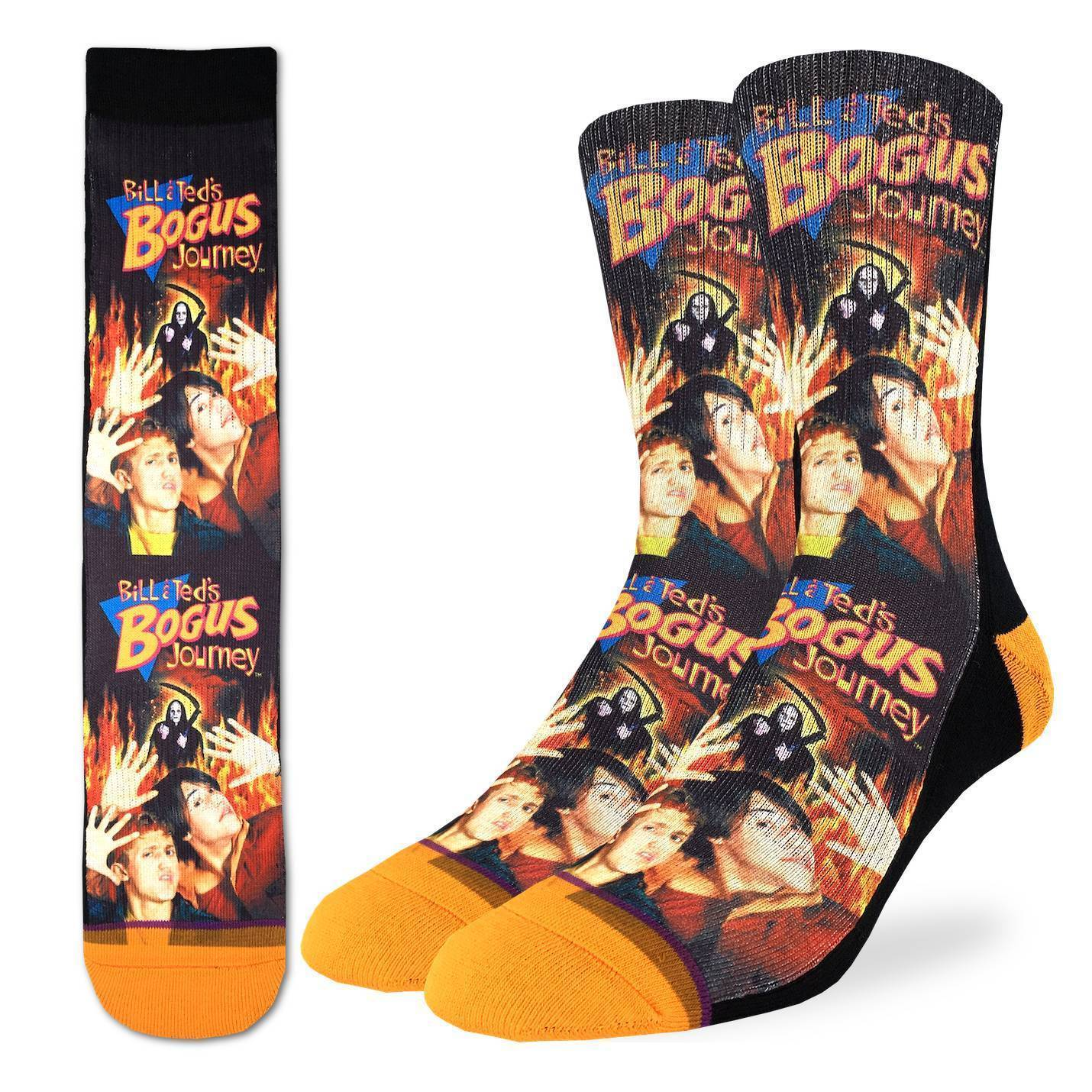 Men's Bill & Ted's Bogus Journey Socks - Good Luck Sock