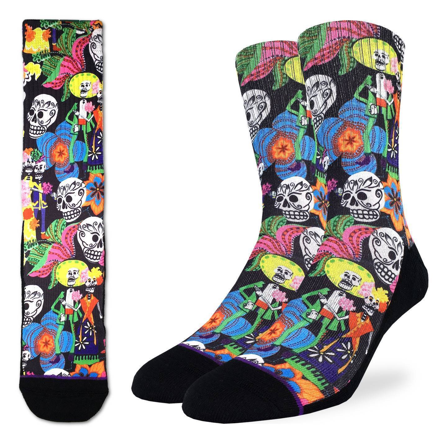 Men's Catrinos & Catrinas Skulls Socks - Good Luck Sock