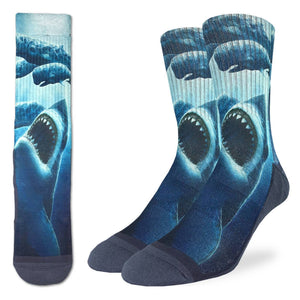 Men's Shark Attacking Whales Socks
