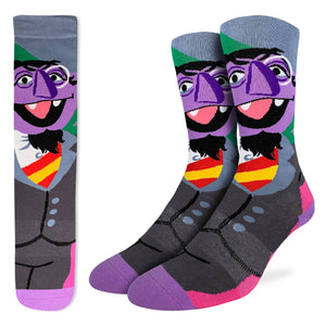 Men's Count von Count, Sesame Street Socks