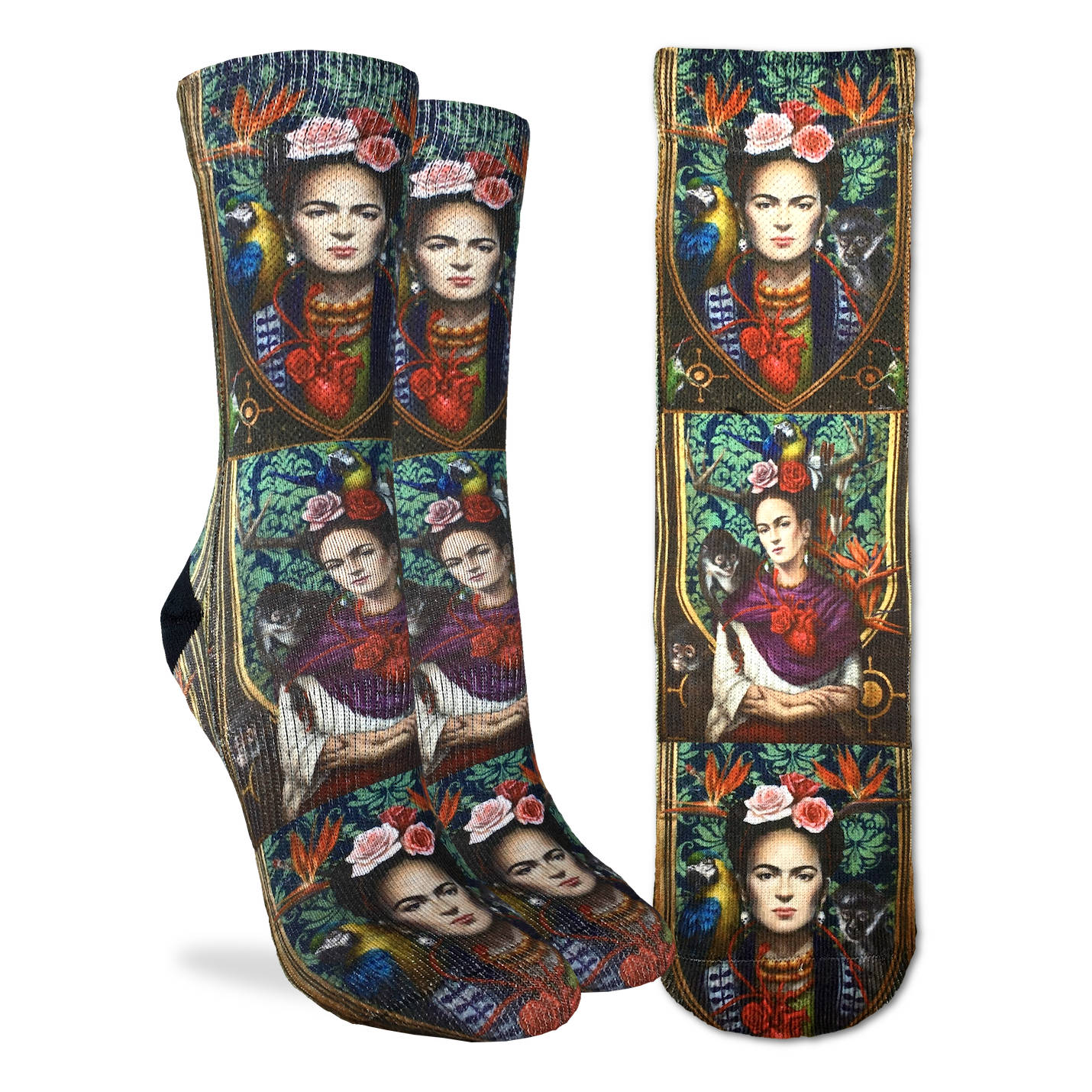 Women's Ode To Frida Kahlo Socks - Good Luck Sock