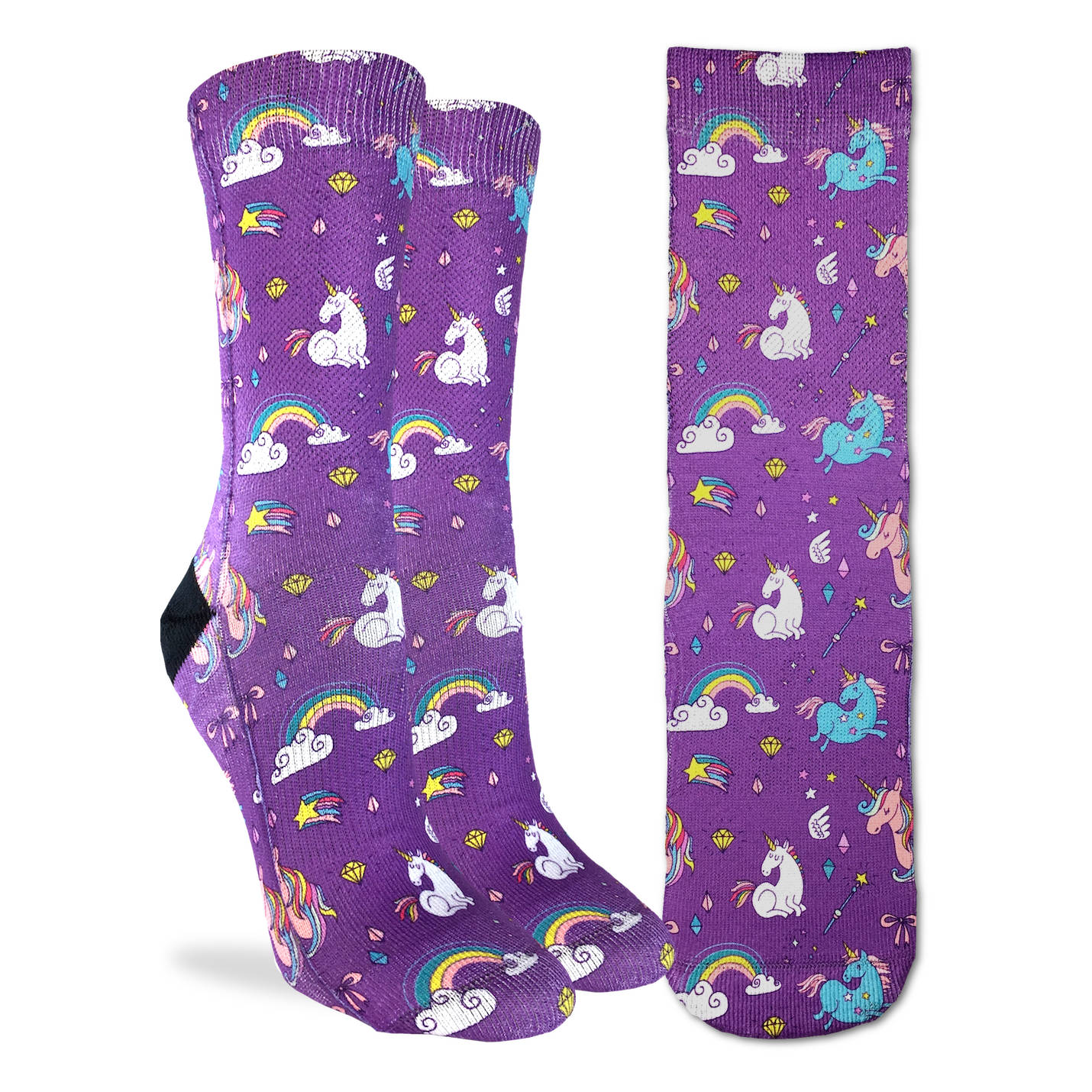 Women's Rainbows & Unicorns - Good Luck Sock