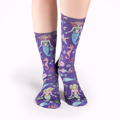 Women's Mermaids Socks - Good Luck Sock