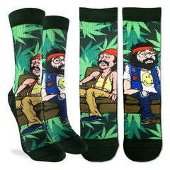 Women's Cheech & Chong on Couch Socks - Good Luck Sock