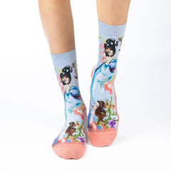 Women's Mermaids & Dolphins Socks - Good Luck Sock