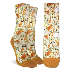 Women's Corgis on a Beach Socks