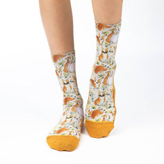 Women's Corgis on a Beach Socks - Good Luck Sock