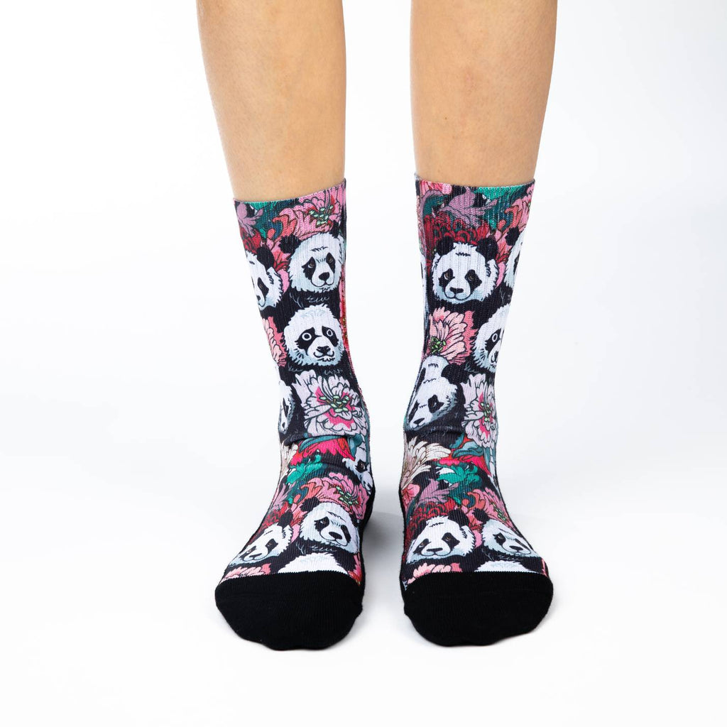 Women's Floral Pandas Socks