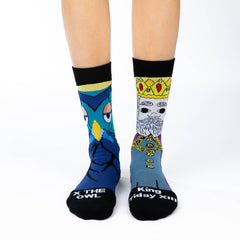 Women's Mister Rogers King Friday Socks - Good Luck Sock