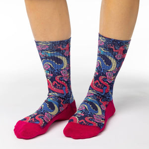Women's Chinese Dragons Socks