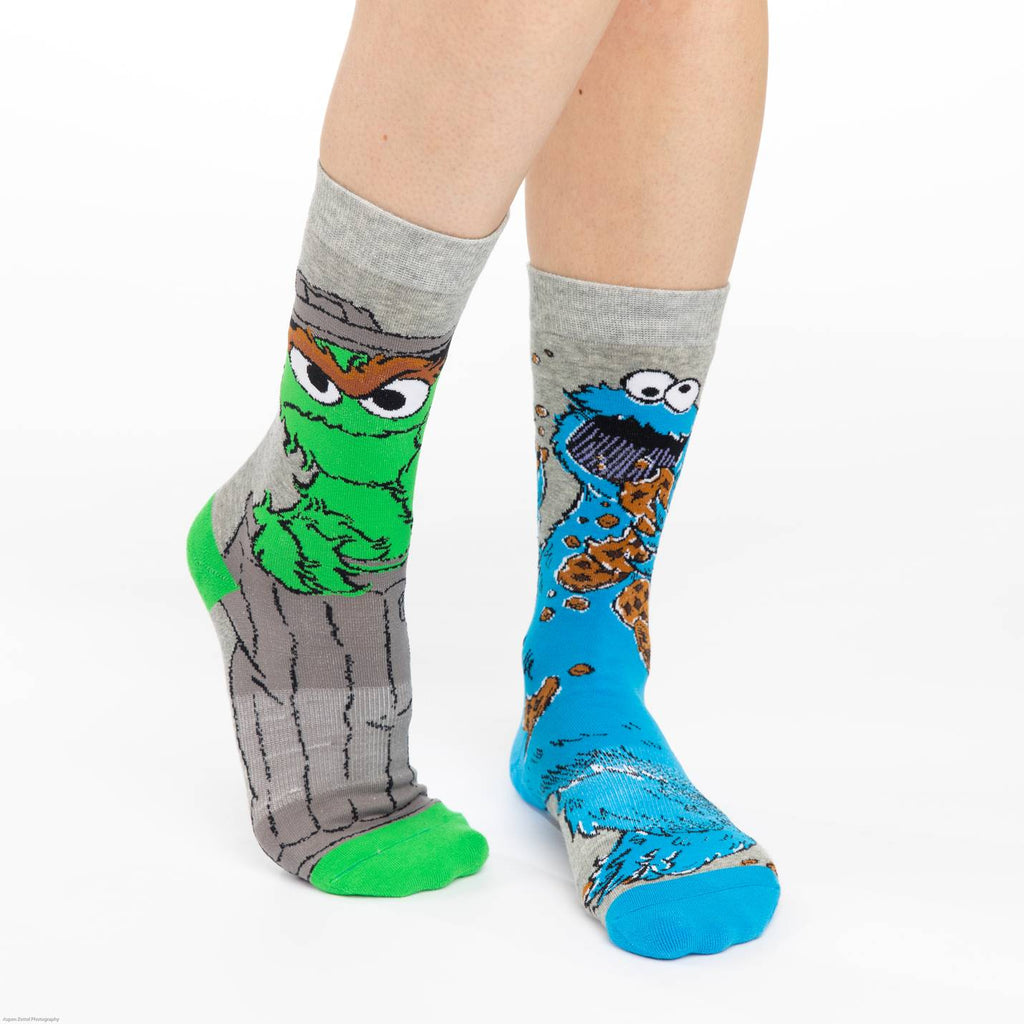 Women's Oscar and Cookie Monster Socks