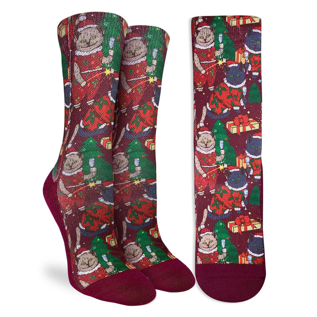 Women's Christmas Cats Socks