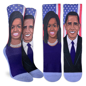 Women's Michelle & Barack Obama Socks