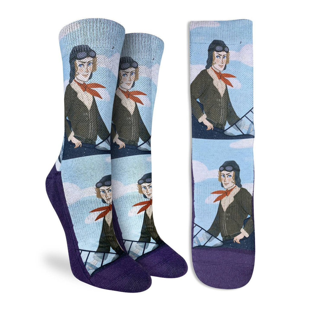 Women's Amelia Earhart in the Clouds Socks