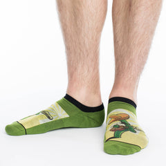 Men's Cactus Guitar Ankle Socks - Good Luck Sock