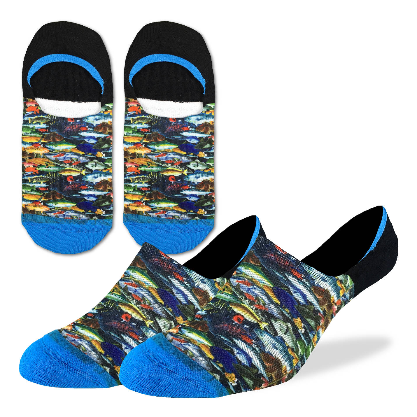 Men's School of Fish No Show Socks - Good Luck Sock