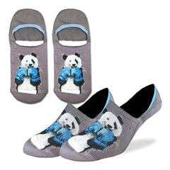Men's Boxing Panda No Show Socks - Good Luck Sock