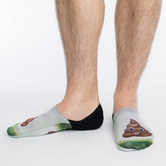 Men's Piles Of Poop No Show Socks - Good Luck Sock