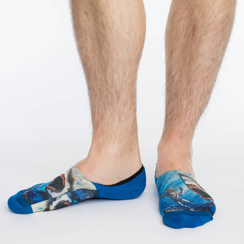 Men's Shark Attack No Show Socks